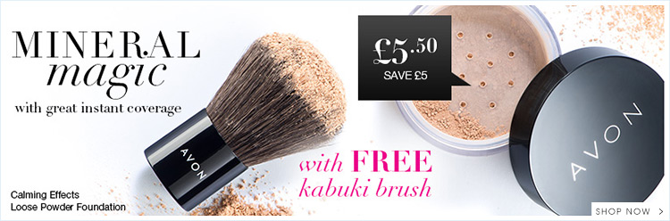 Calmimng effects Loose Powder foundation Just £5.50 with FREE Kabuki Brush